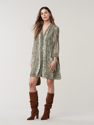 Diane von Furstenberg Layla Silk-Chiffon Mini Dress
