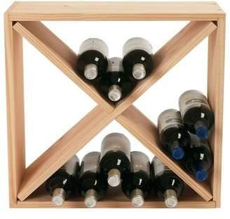 Vintage 24 Bottle Compact Cellar Cube Wine Rack (Natural) Vintage