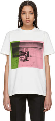 Calvin Klein White and Pink Electric Chair T-Shirt