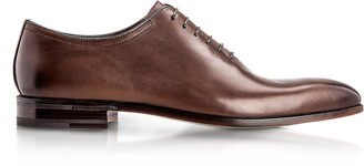 Moreschi Montreal Brown Antiqued Calfskin Oxford Shoes