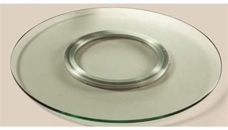 Chintaly Imports LAZY SUSAN CLEAR GLASS