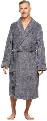 Haggar Men's Marled Shawl-Collar Fleece Robe