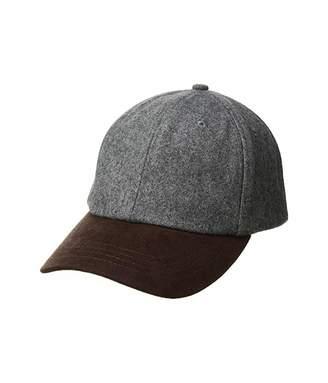 59849f1228b61a San Diego Hat Company CTH1502 Wool Crown and Faux Suede Brim Baseball Cap