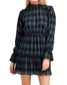 The Fifth Label Zone Tartan Long Sleeve Dress