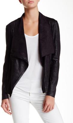 BNCI by Blanc Noir Vegan Suede Drape Jacket $120 thestylecure.com