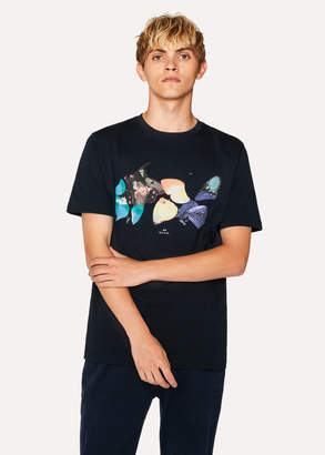 Paul Smith Men's Navy 'Butterflies' Print Organic-Cotton T-Shirt