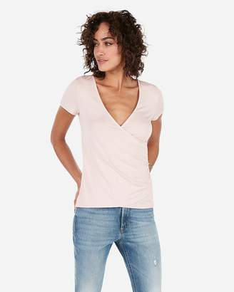Express Ruched Side Surplice Tee
