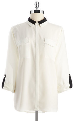 Vince Camuto TWO BY Colorblock Utility Blouse