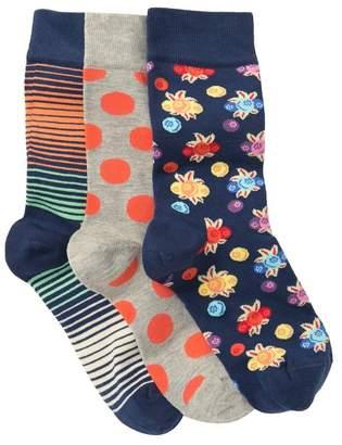 Happy Socks Assorted Crew Socks - Pack of 3