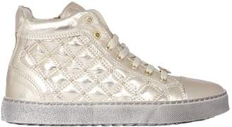 Roberto Cavalli Quilted Lamé Nappa High Top Sneakers