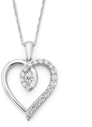 Twisted Heart FINE JEWELRY DiamonArt Cubic Zirconia Pendant Necklace