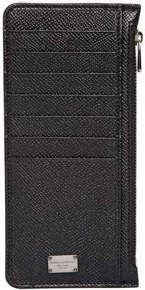 Dolce & Gabbana Dauphine Leather Card Holder W/ Pockets