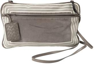 Bottega Veneta Grey Suede Clutch Bag