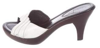 Fendi Patent Leather Slide Sandals