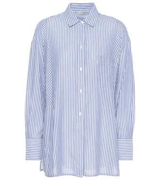 Vince Striped cotton-blend shirt