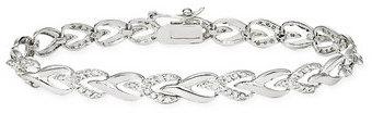 1 Carat Diamond Sterling Silver Bracelet