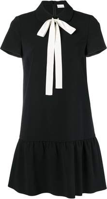 RED Valentino bow tie neck dress