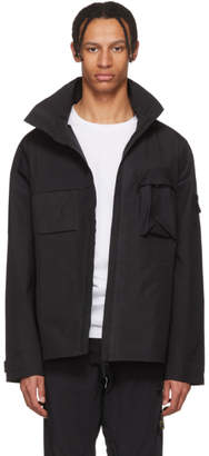 Stone Island Black Ghost Piece Tank Shield Jacket