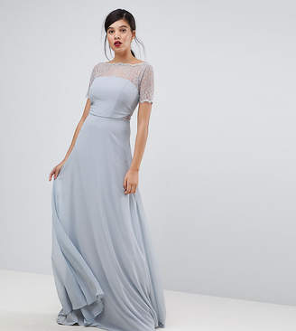 Asos Tall TALL Lace Insert Paneled Maxi Dress