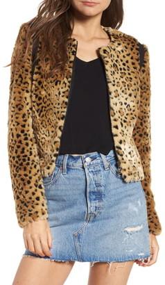 Tinsel Faux Fur Leopard Jacket