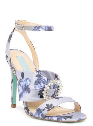 Betsey Johnson Scoti Embellished Floral Sandal