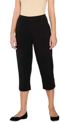 Susan Graver Weekend French Terry Comfort Waist Capri Pants