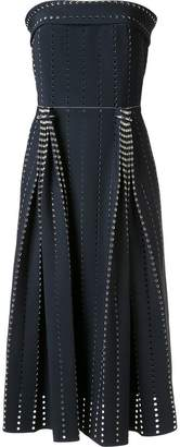Dion Lee pleated perforated dress