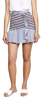 Parker Women's Jordon Fitted Smocked Ruffle Mini Skirt