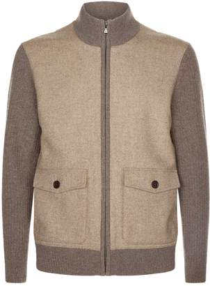 Hackett Wool Herringbone Jacket