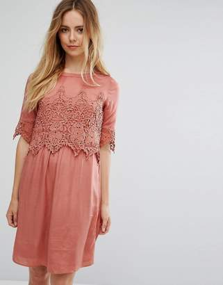 Vila Lace Overlay Dress