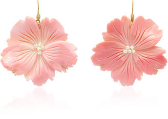 Annette Ferdinandsen Exclusive: Wild Rose Pink Conch Shell Earring