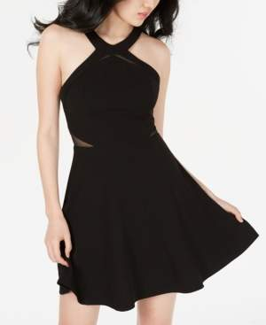 B. Darlin Juniors' Illusion-Detail Fit & Flare Dress