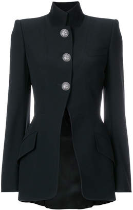 Alexander McQueen high collar buttoned jacket