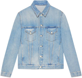 Denim jacket with embroideries $2,100 thestylecure.com