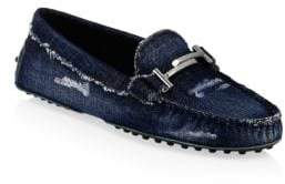 Tod's Gommini Double T Leather Loafers