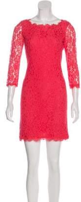 Diane von Furstenberg Floral Lace Dress