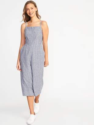 Old Navy Sleeveless Striped Linen-Blend Jumpsuit for Women