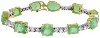 Irene Neuwirth One-Of-A-Kind Emerald Tennis Bracelet