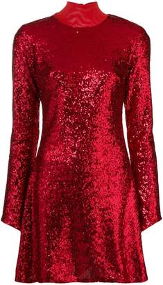 P.A.R.O.S.H. halterneck sequin dress
