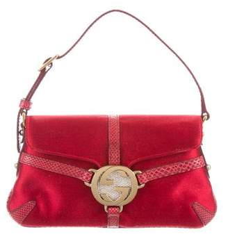 Gucci Satin Reins Karung-Trimmed Evening Bag
