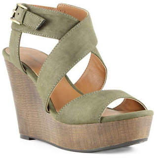 Indigo Rd Kamryn Faux Leather Platform Wedge Sandals