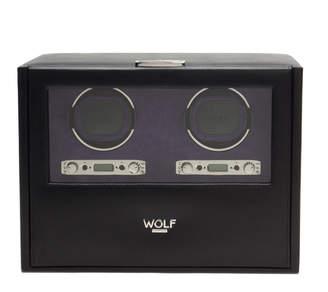 """Wolf Double Watch Winder with Storage """"Blake"""""""