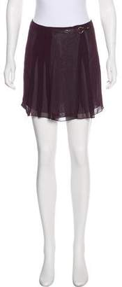 Philosophy di Alberta Ferretti Semi-Sheer Mini Skirt