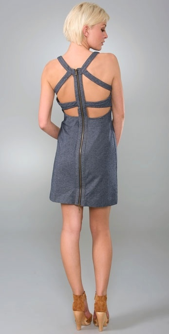 Charlotte Ronson Strappy Dress with Back Cutout Detail