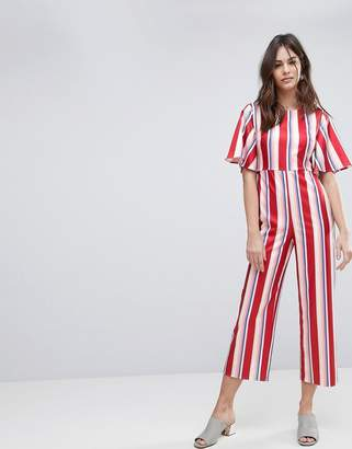Fashion Union Tailored Jumpsuit In Stripe