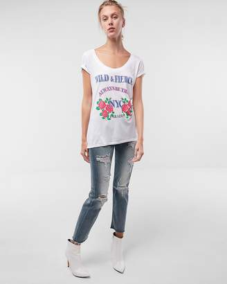 Express Wild And Fierce Graphic Tee