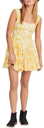 Free People Dance On The Blacktop Floral Mini Dress