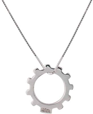 Edge Only - Gear Necklace Mens Silver