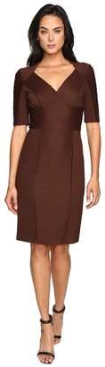 NUE by Shani Cross-Over V-neck Knit Dress Women's Dress
