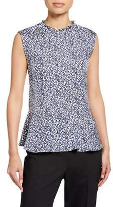 Derek Lam 10 Crosby Sleeveless Ruffle-Hem Blouse